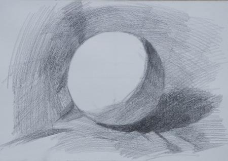 球的素描步骤(图)