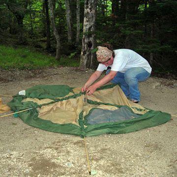 搭帐篷的方法和步骤