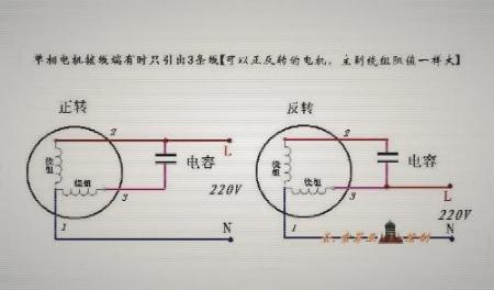 关于单相双值电容电机正反转接线图有哪些?