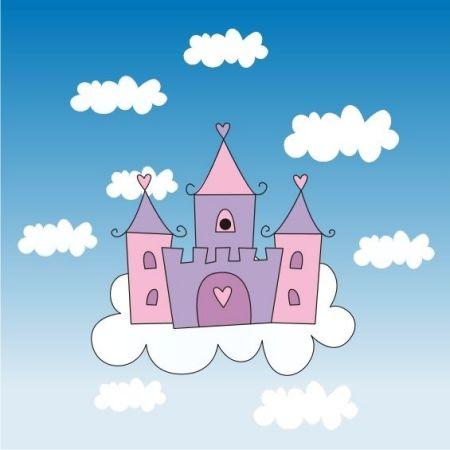 城堡怎么画 儿童画 急急急!图片
