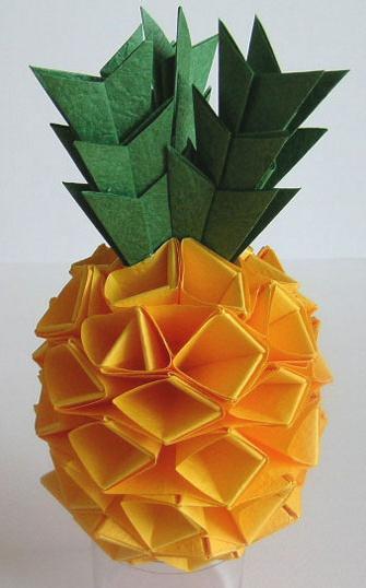 怎样手工折纸菠萝制作手工折纸菠萝