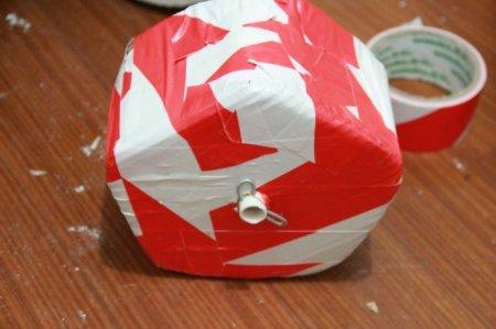 废品利用手工小制作举重器