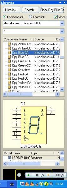 protel中7seg-mpx6-ca(七段六位数码显示)在哪个库?答对了给分