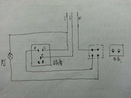 急急,一个5孔插座,一个双控开关,怎么接线?