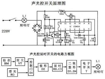 楼道里的声控灯电路是什么原理?电路图是什么呢?