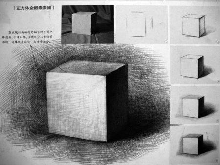 素描正方体及其步骤