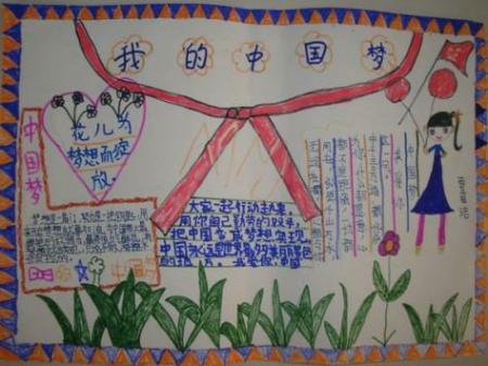 美丽中国,放飞梦想的手抄报的内容