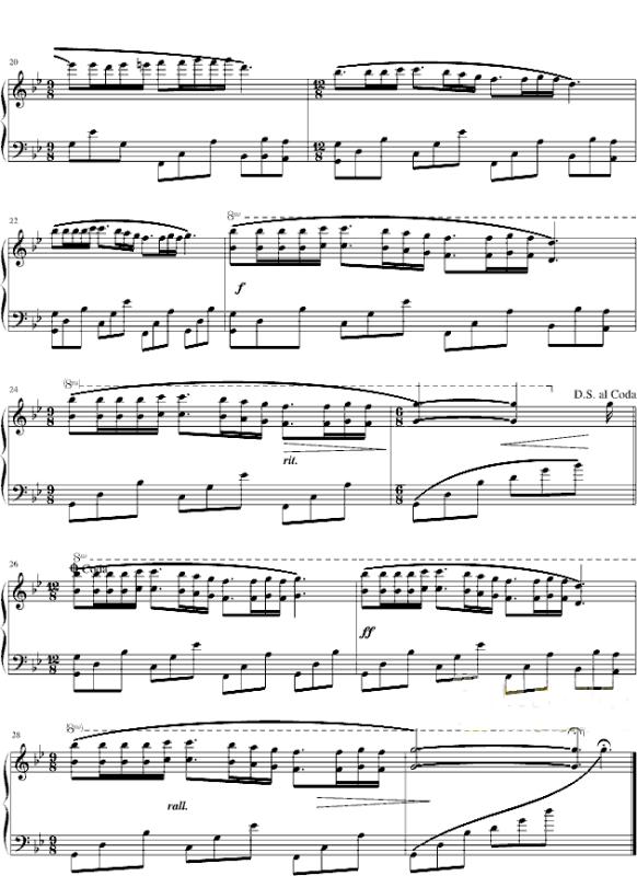 钢琴曲 梦中的婚礼 简谱和五线谱