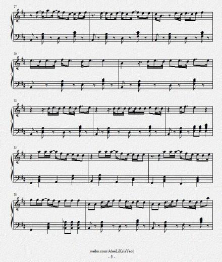 长笛儿童流行歌曲五线谱曲谱