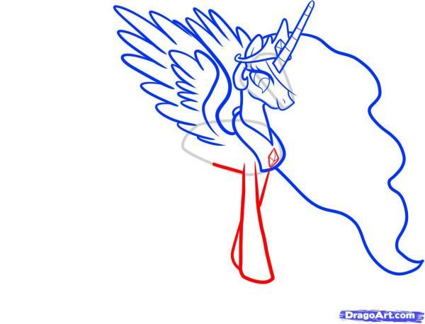 笔画宝莉简小马公主丸子英语太阳头图片