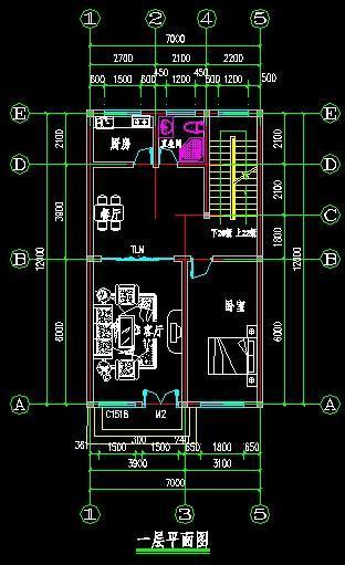 一层房子平面设计图 100平方的房子设计为四个卧室,一