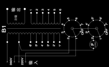 電焊機bx6-160 旋鈕開關壞了,接線亂了,如何分線