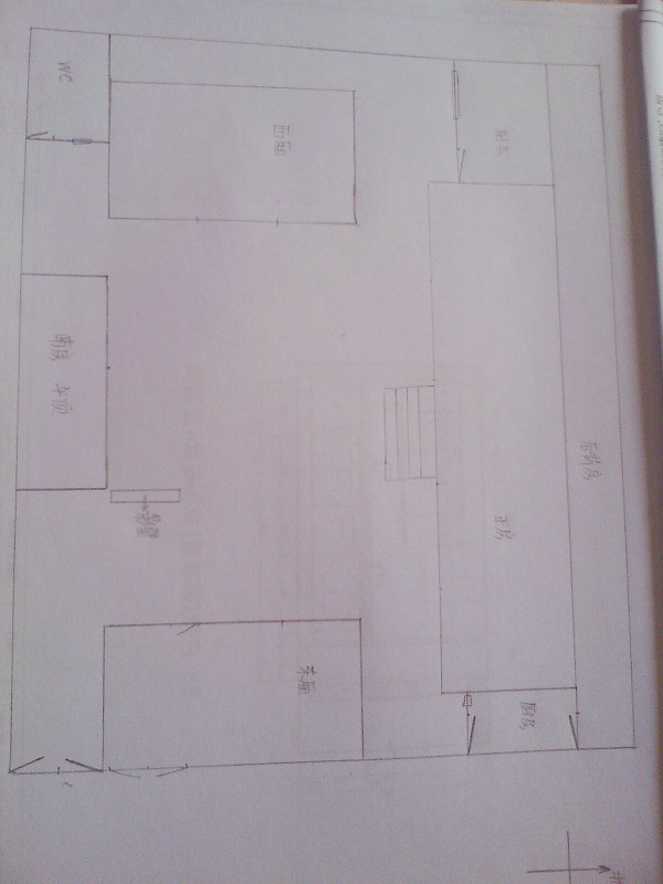 农村三间两层平房设计图展示图片