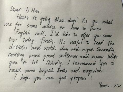你的朋友李华,最近很烦恼,英语总学不好写信向你求助希望你能给他建议图片