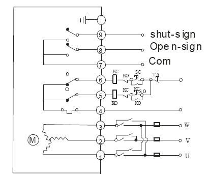 直流dc24v dc12v电动蝶阀接线图   交换正负正开关电动蝶阀同时无源图片