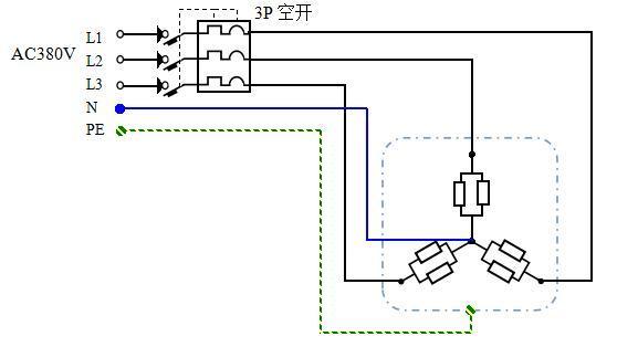 6根380v加热管接线图
