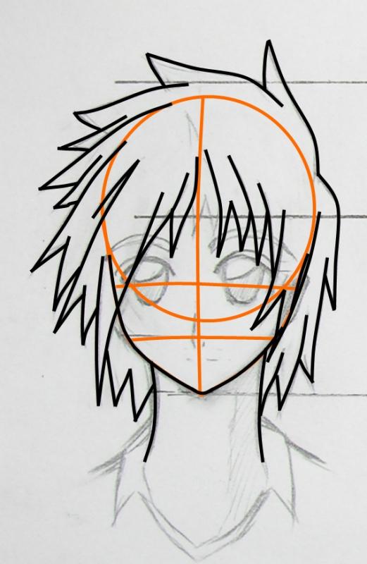 动漫男生简单发型画法 动漫男生头发画法简单动漫