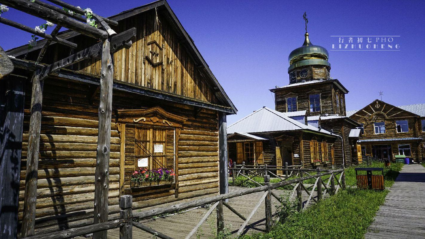 到处都是俄罗斯式的小木屋图片