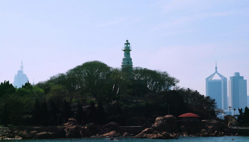 小青岛的灯塔!图片