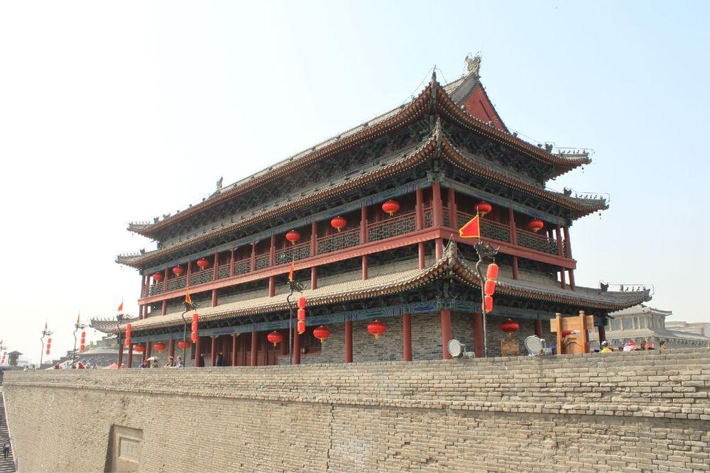 城墙图片素材橙色