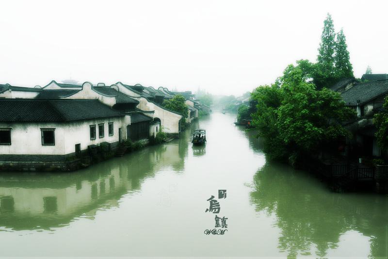 建筑风景江南钢笔画