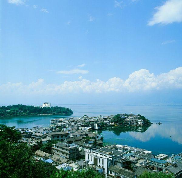 双廊玉几岛全景图片