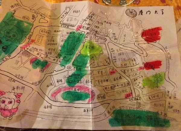 学生手绘地图图片