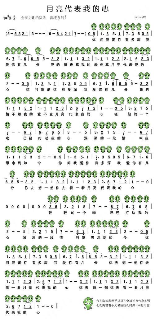 六孔陶笛曲谱