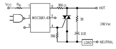 关于光耦,可控硅控制大功率电器电路器件参数的选取