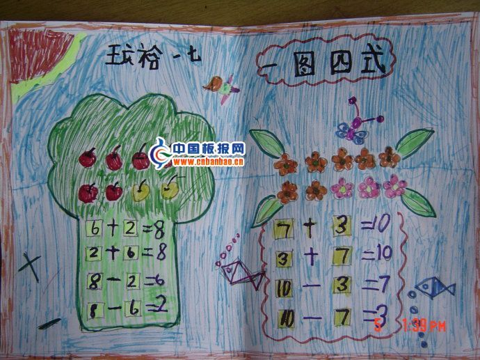一年级下册的手抄数学手抄报怎么做