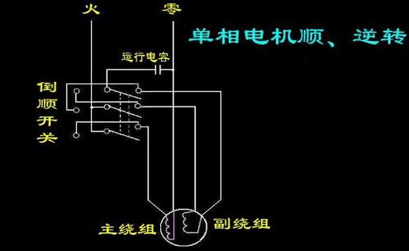 加上实现自动控制接线比较复杂,所以单相电动机的顺逆转接线成为了