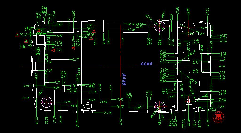 做塑手机壳料模具毕业设计时,复杂的型芯,型腔尺寸怎么标注,公差怎么