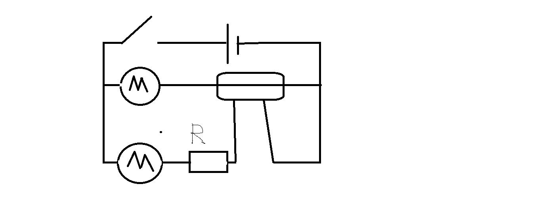 时间继电器串联构成一个支路,第二台电动机构成一个电路用继电器控制