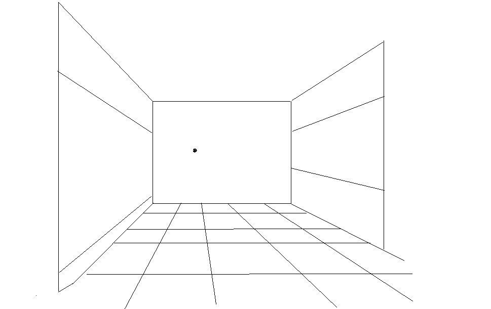 求房间成角透视图