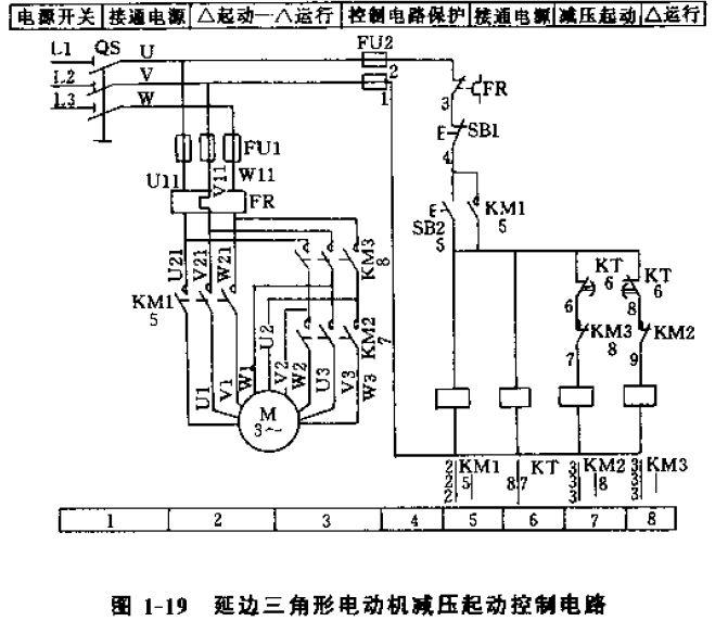 电动机延边三角形降压启动接线
