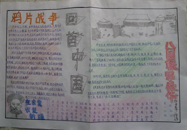 关于中国近代史的手抄报图片