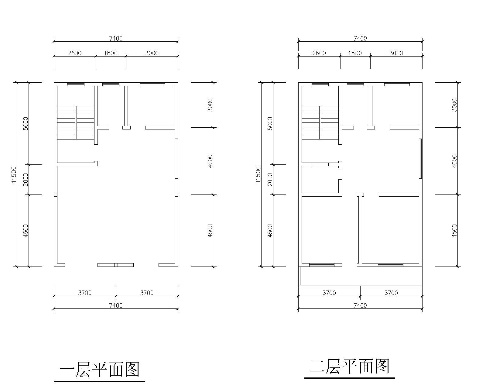 普通民房建筑设计图6.6米乘16米