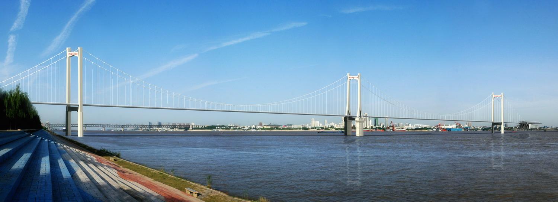 武汉鹦鹉洲长江大桥的进度图片