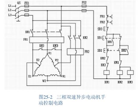 双速电机星角启动控制电路图