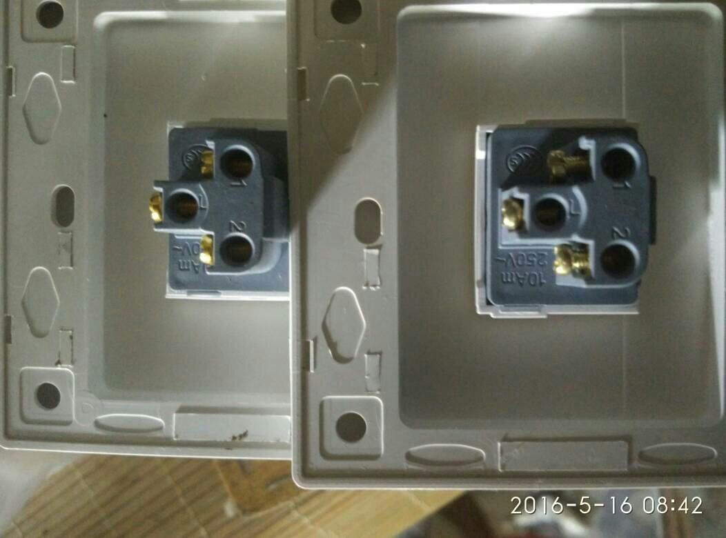 电灯开关单连双开怎么接线求图求解?