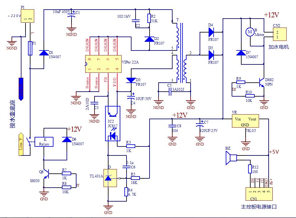 求解电路图——如图,能否解释变压器如何变压提供电源