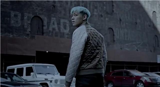 bigbang《blue》mv里top的发型.
