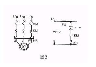 浮球液位控制器 和交流接触器 与水泵 的接线图 都是380v的 求高手指图片