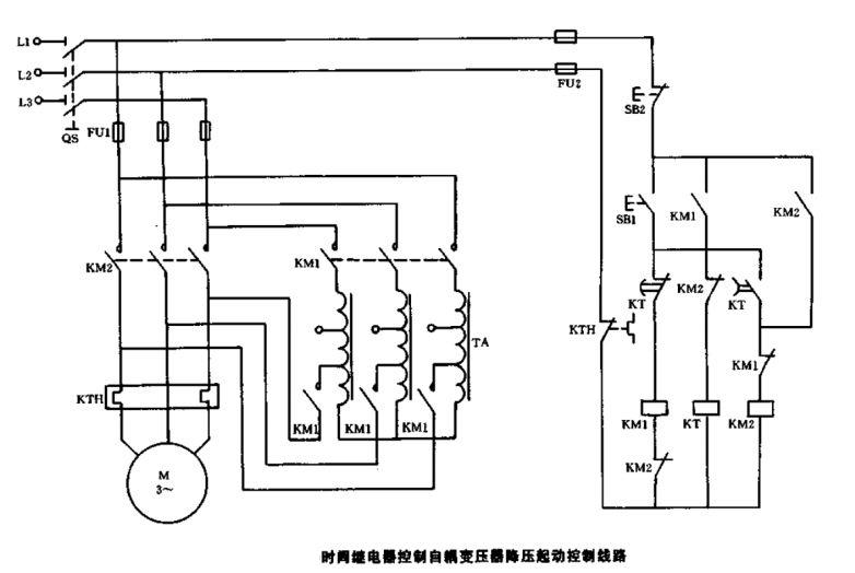 求自耦降压启动电路图