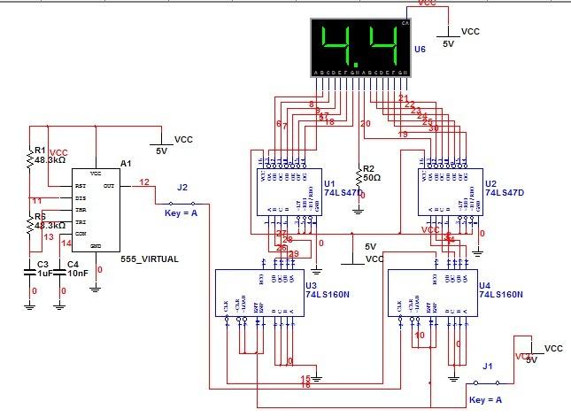 求秒表计时器设计电路图