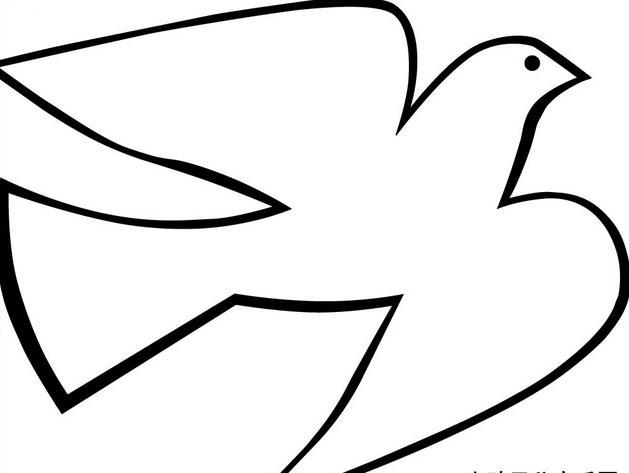 简单的和平鸽怎么画呀?