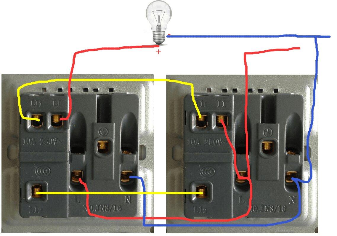 一灯双控开关五孔接线图视频