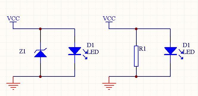一个led照明灯电路中用电阻替代稳压二极管,能行吗?