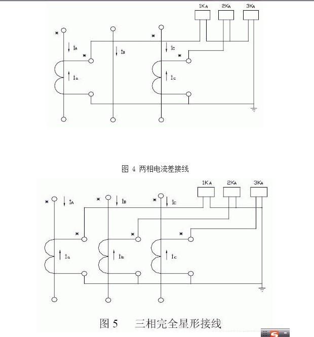 电流互感器的实物接线方式