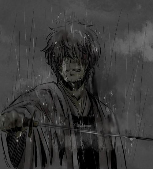 求几张动漫男,闭眼流泪的伤感图片